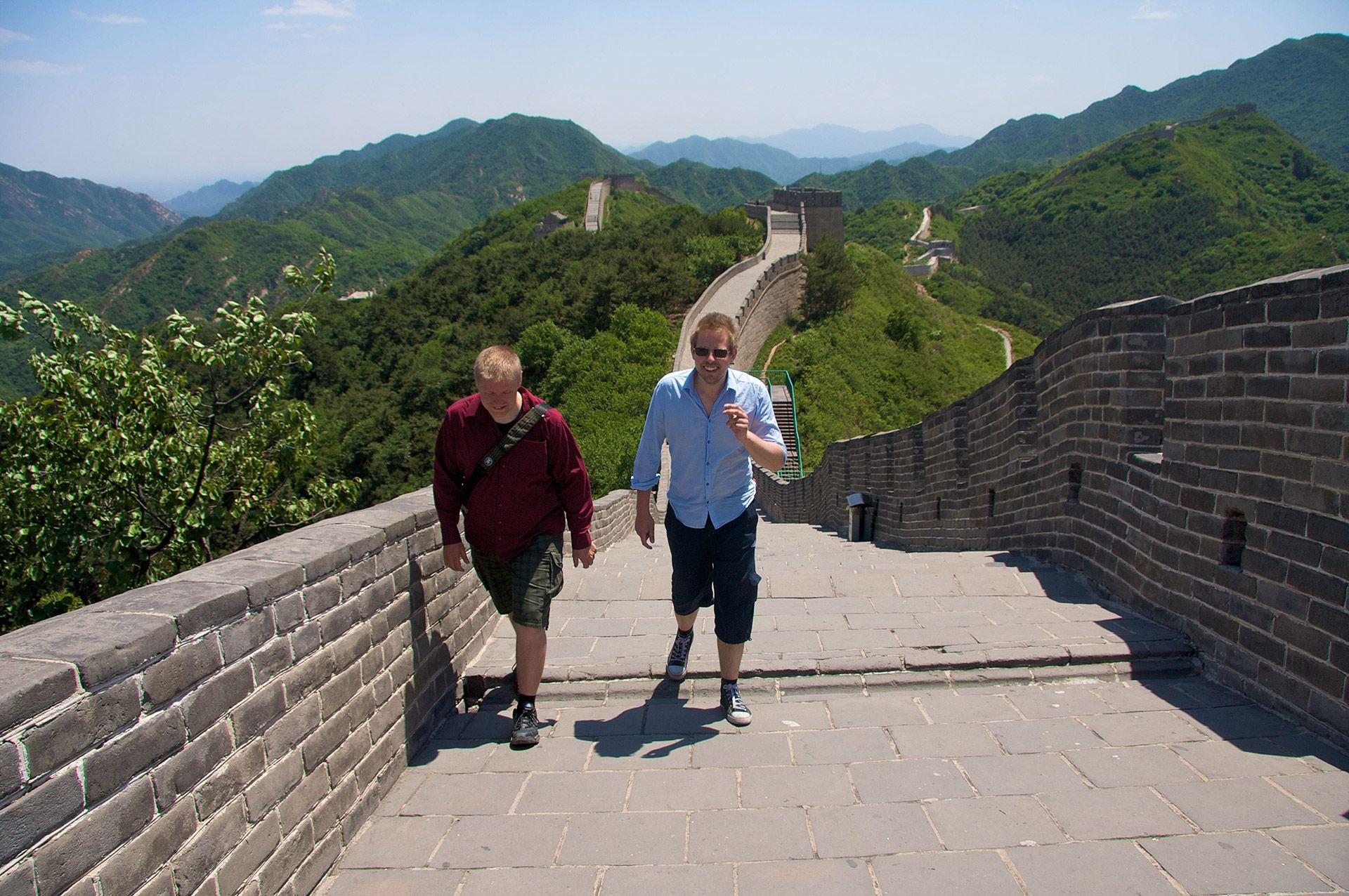 Interns visiting Great Wall of China