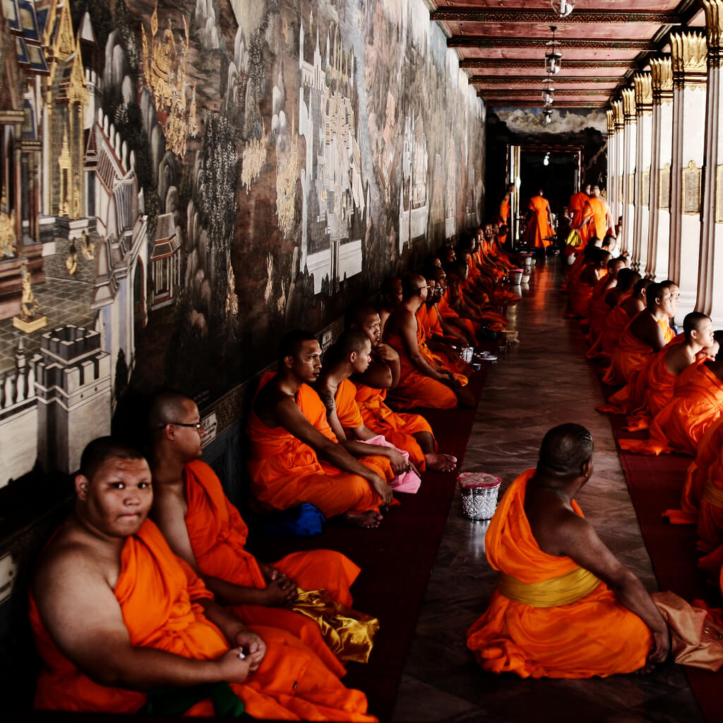 Buddhist monks in the Grand Palace, Bangkok