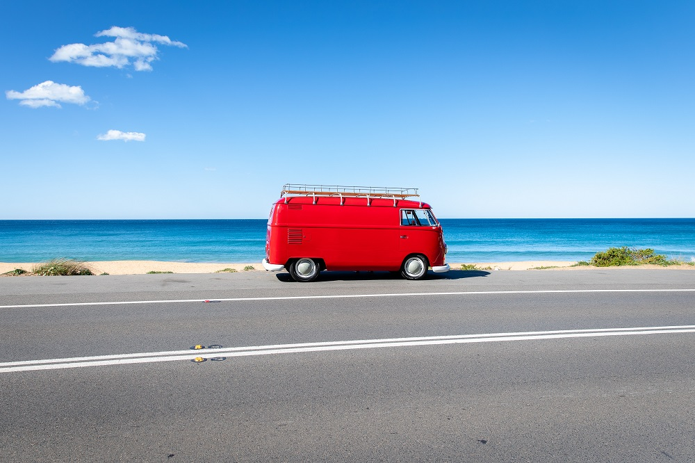 Image showing camper van in Australia while on placement with Placement Year International
