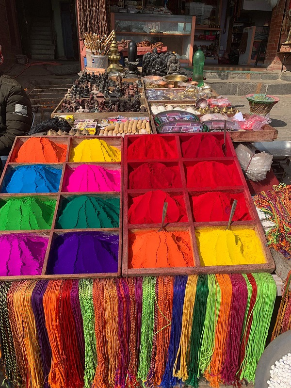 Explore magical markets while on placement in Nepal.