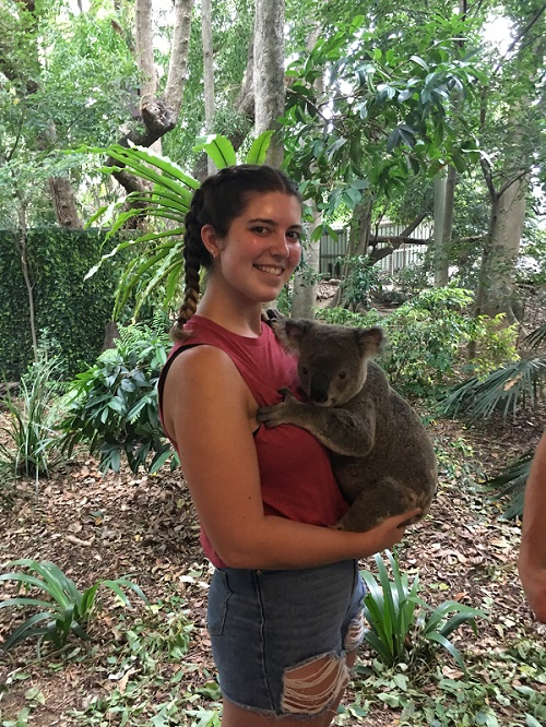 Sarah's Tourism Management placement in Australia